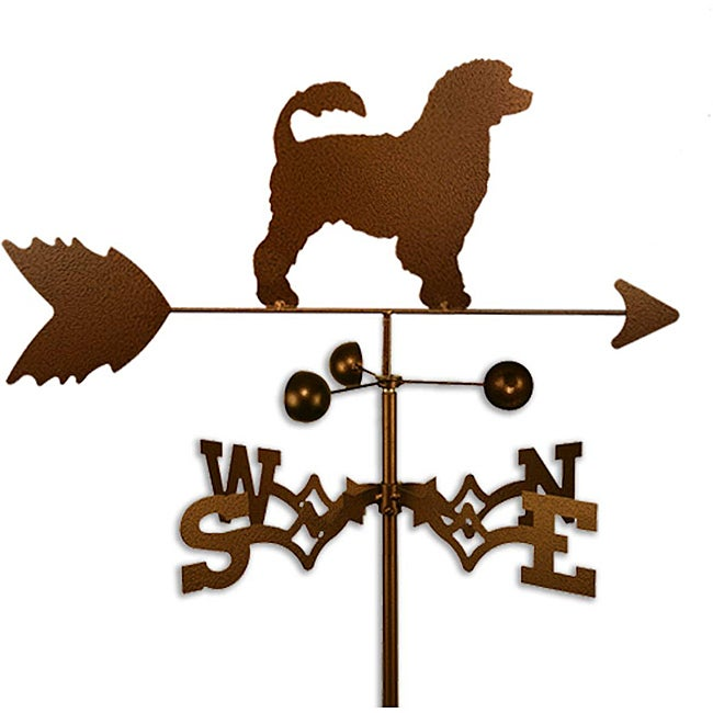 Handmade Portuguese Water Dog Copper Weathervane (Roof Mount)