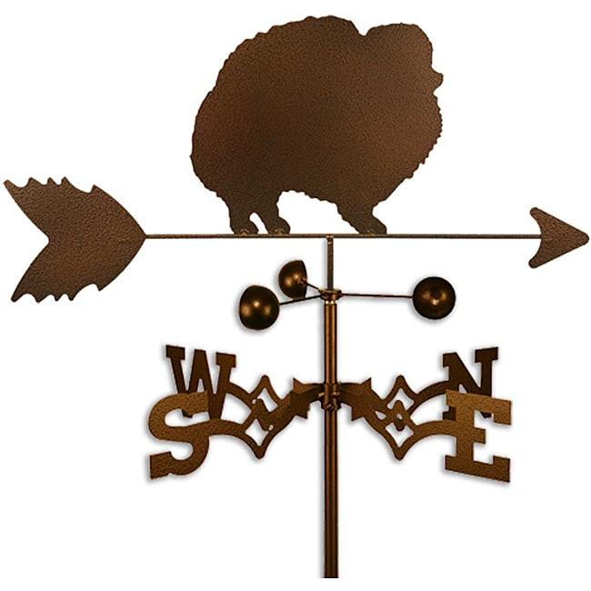 Handmade Pomeranian Dog Copper Weathervane