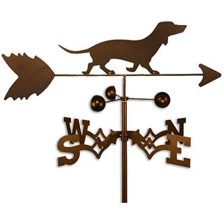Handmade Dachshund Dog Copper Weathervane