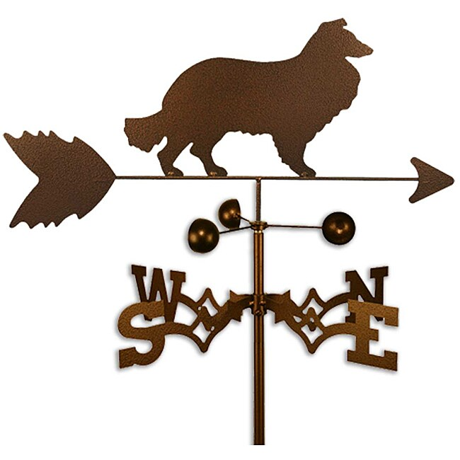 Handmade Collie Dog Copper Weathervane