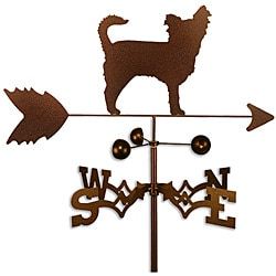 Handmade Long Hair Chihuahua Dog Copper Weathervane