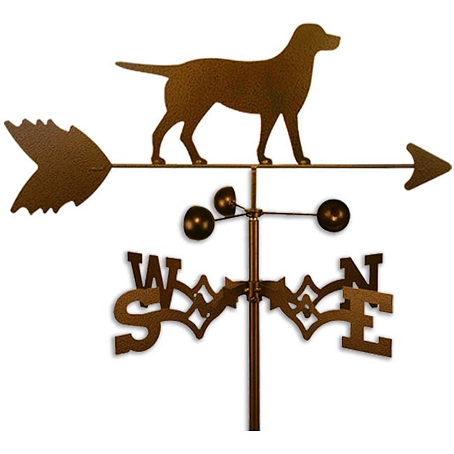 Handmade Labrador Lab Dog Copper Weathervane