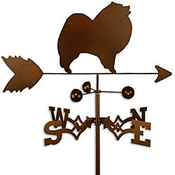 Handmade Keeshond Dog Copper Weathervane