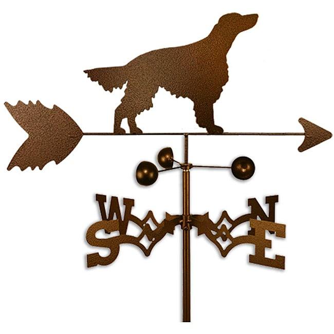 Handmade Irish Setter Dog Copper Weathervane