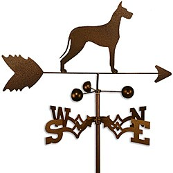 Handmade Great Dane Dog Copper Weathervane
