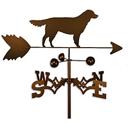 Handmade Golden Retriever Dog Copper Weathervane