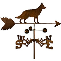 Handmade German Shepherd Dog Copper Weathervane