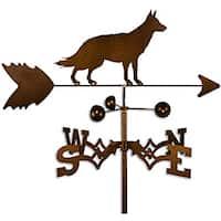 Handmade German Shepherd Dog Copper Weathervane