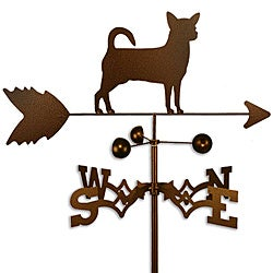Handmade Chihuahua Dog Copper Weathervane