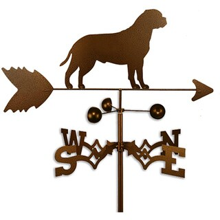 Handmade Bull Mastiff Dog Copper Weathervane (Roof Mount)