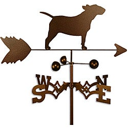 Handmade Bull Terrier Dog Copper Weathervane