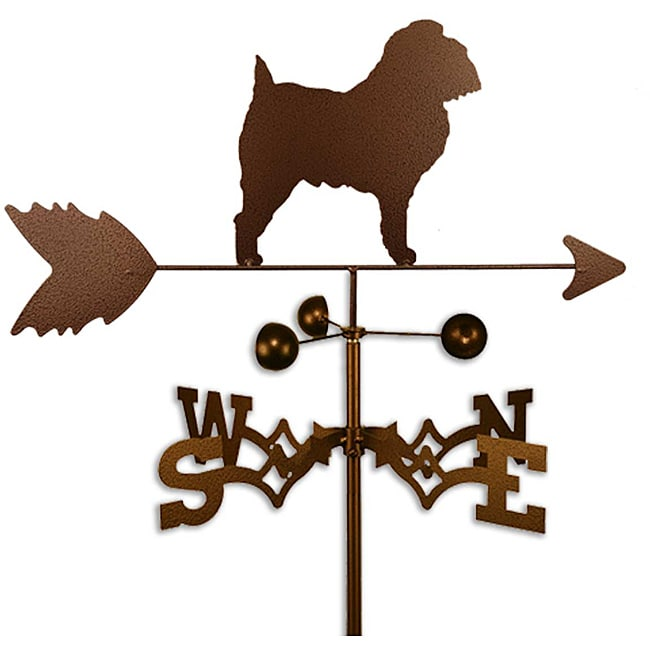 Handmade Brussels Griffon Dog Copper Weathervane - Thumbnail 0
