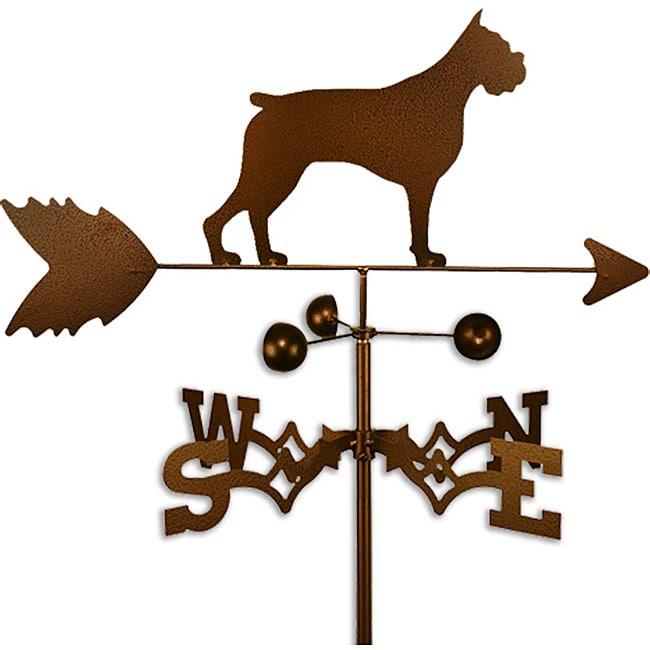 Handmade Boxer Dog Copper Weathervane