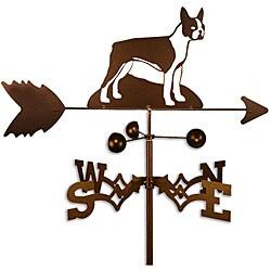 Handmade Boston Terrier Dog Copper Weathervane