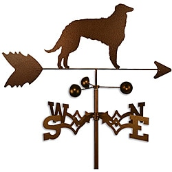 Handmade Borzoi Dog Copper Weathervane