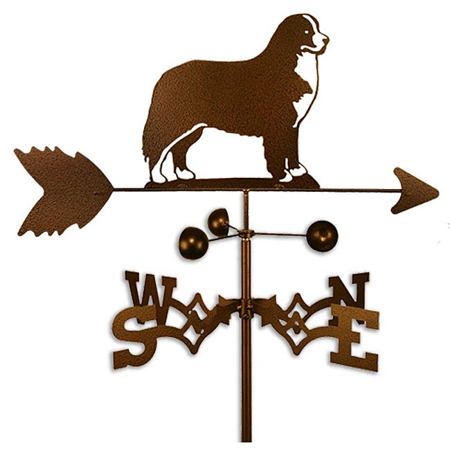 Swen Handmade Bernese Mountain Dog Copper Weathervane (Ro...