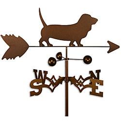 Handmade Basset Hound Dog Copper Weathervane