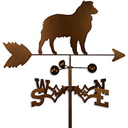 Handmade Australian Shepherd Dog Copper Weathervane