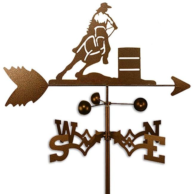 Handmade Barrel Racer Rider Horse PBR Weathervane