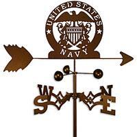 Handmade Armed Services US Naval Academy Weathervane