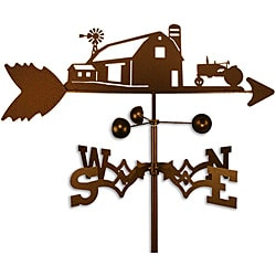 Farm Scene with Farmall International Tractor Steel Weathervane