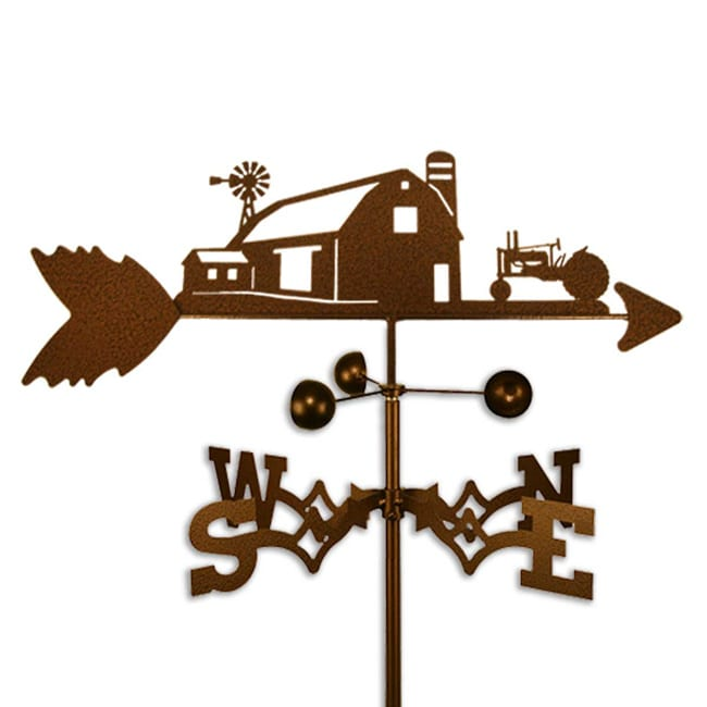 Farm Scene with John Deere Tractor Steel Weathervane