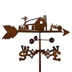 Farm Scene with John Deere Tractor Steel Weathervane
