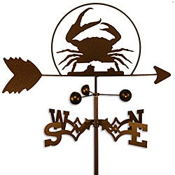 Handmade Crab Shellfish Steel Weathervane