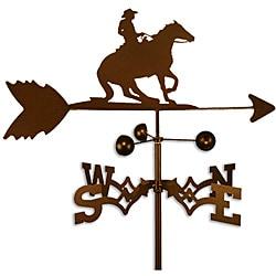 Handmade Cowboy Reining Horse Steel Weathervane