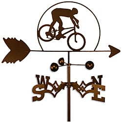 Handmade Mountain Biker Dirt Bike Weathervane