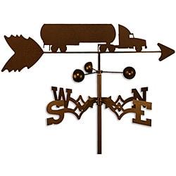 Handmade Oil Tanker Semi Truck Weathervane