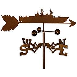 Handmade Battleship Weathervane