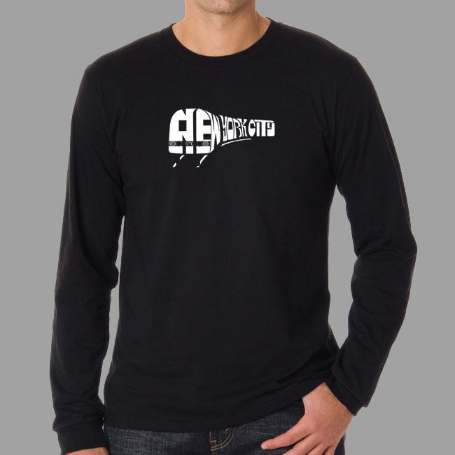 Los Angeles Pop Art Men's NYC Subway Long Sleeve T-Shirt