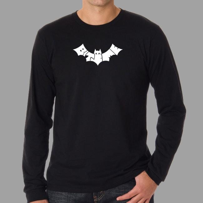 Los Angeles Pop Art Men's 'Bite Me' Bat Long Sleeve T-Shirt