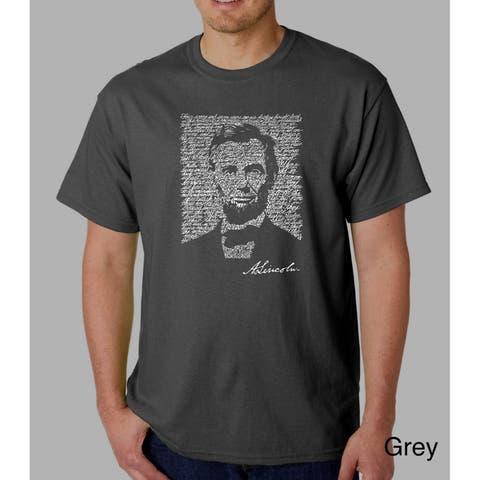 Los Angeles Pop Art Men's Abe Lincoln Cotton T-Shirt