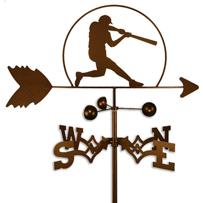 Handmade Baseball Player Weathervane Free Shipping Today