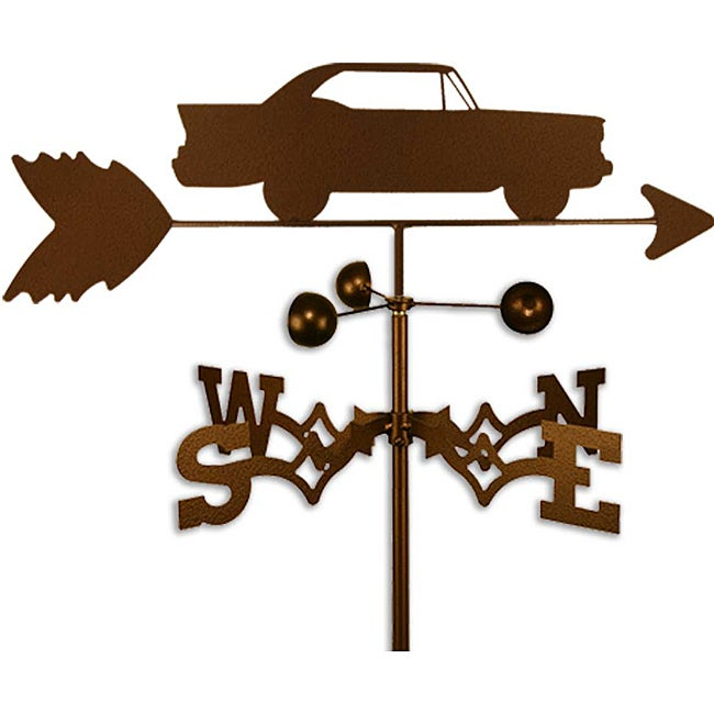Handmade Race Car Weathervane (Side Mount)