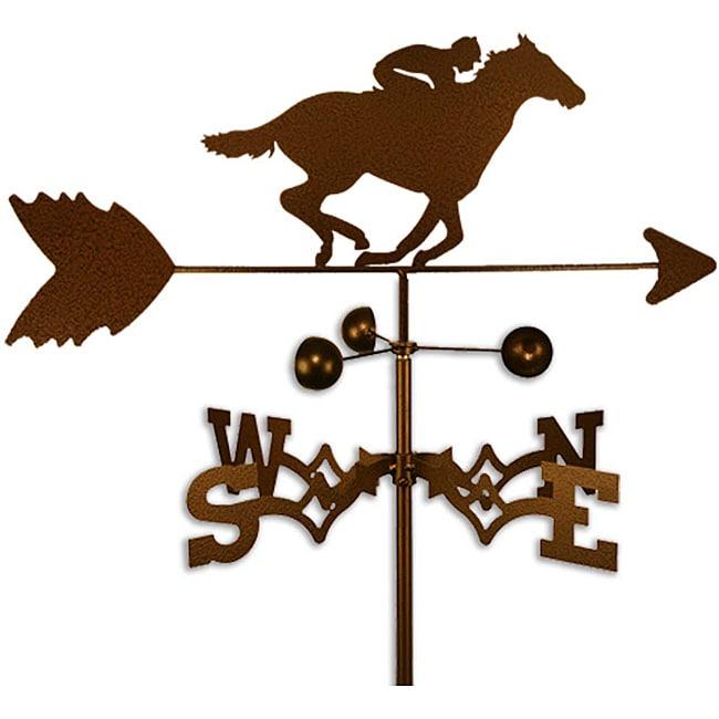 Handmade Jockey on Race horse Weathervane