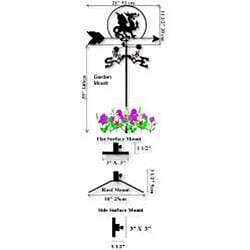 Handmade Equestrian Quarter Horse and Windmill Weathervane - Thumbnail 1