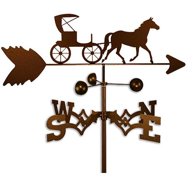 Handmade Horse and Buggy Weathervane