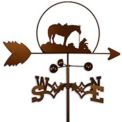 Handmade Coffee Break Cowboy and Horse Weathervane