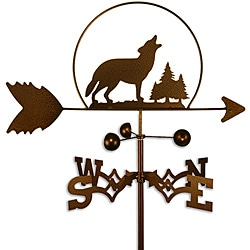 Handmade Wolf Howling in the Wild Weathervane