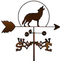 Handmade Wolf Howling at the Moon Weathervane