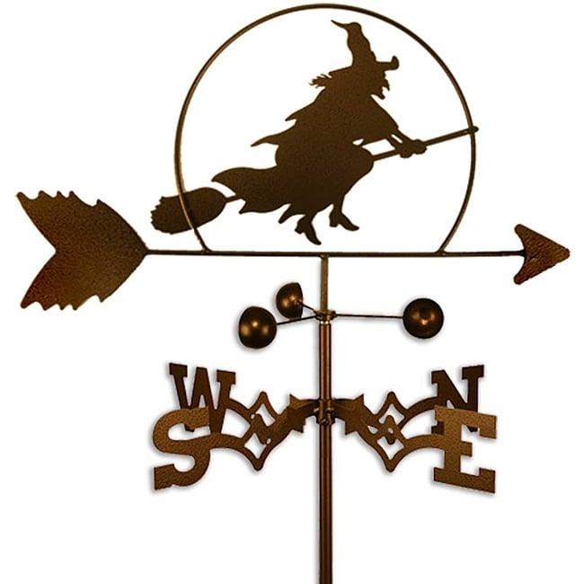 Handmade Halloween Witch Weathervane