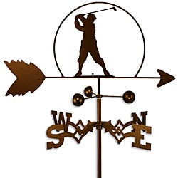 Handmade PGA Male Golfer Weathervane