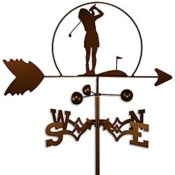 Handmade Female Golfer Weathervane