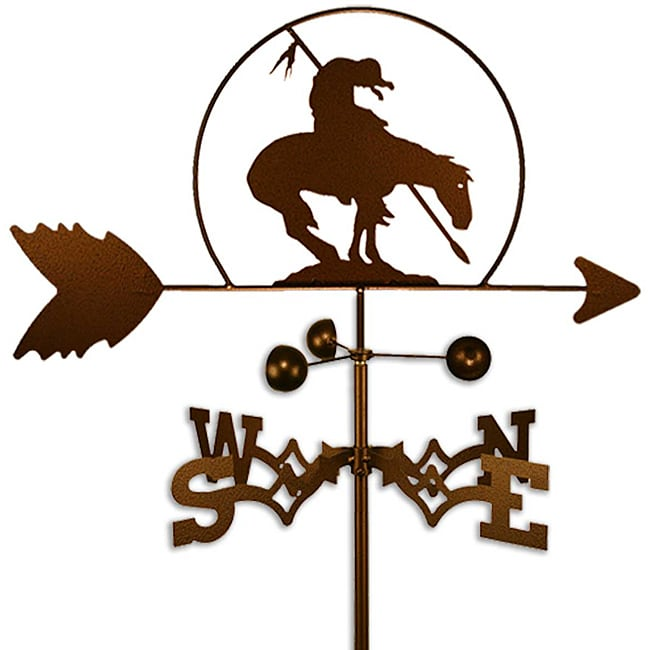 Handmade Horse and Rider at End of Trail Weathervane