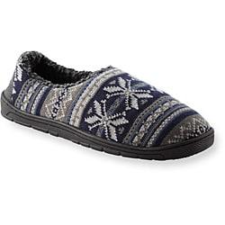 Muk Luks Men's 'John' Navy Fairisle Knit Foot Slippers