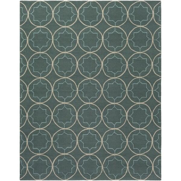 Hand-hooked Gray Petitot Indoor/Outdoor Moroccan Trellis Area Rug - 8' x 10'