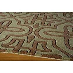 Moresque Sage Wool Rug (9'6 x 13')